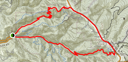 Purisima Creek and Whittemore Gulch Loop Trails Map