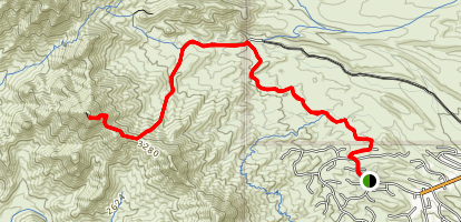 Thompsons Peak Map