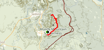 Hot Loop to Munds Mountain Map