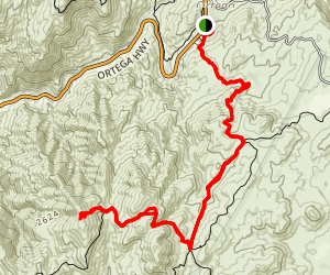 Sitton Peak Truck Trail Map