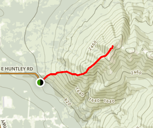 Lazy Mountain Trail Map