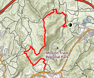 Oak Canyon Trail to South Fortuna Trail Map