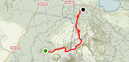 Tongariro Alpine Crossing Map