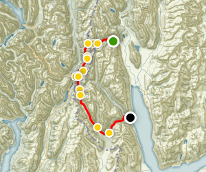 Routeburn/Greenstone Track Map