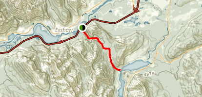 Quaite Creek Trail to Barrier Lake Map
