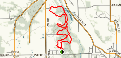 Twin Creek Metropark Loop Trail Map