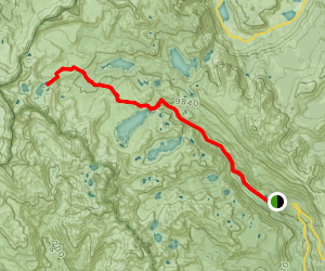 Marie Lakes near Mount Lyell  Map