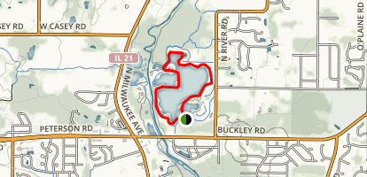 Independence Grove Trail Loop Map