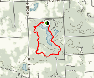 Metamora Hadley Recreation Area Foot Trail Map