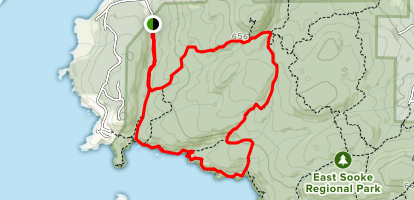 Iron Mine Bay and Coppermine Trail Loop Map