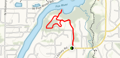 Grassy Lake Red Trail Map