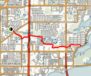 Clearwater East - West Trail Map