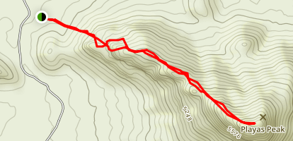 Playas Peak Map