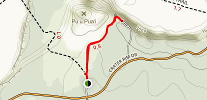 Devastation Trail to Puu Puai Overlook Map