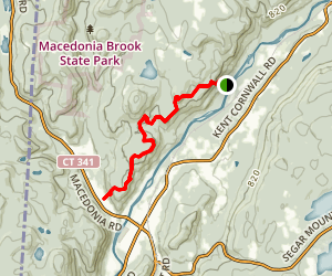 Appalachian Trail from St. Johns Ledges Map