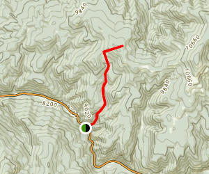 Gallegos Peak via Flechado Canyon Map