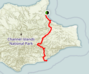 Santa Rosa Island - Pier to Ford Point Map