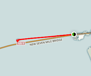 Seven Mile Bridge to Pigeon Key Map