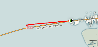 Seven Mile Bridge to Pigeon Key (CLOSED) Map