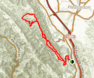 Pleasanton Ridge to Shady Creek  to Bay Leaf Trail Map