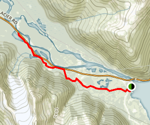 Portage Creek: Trail of Blue Ice Map