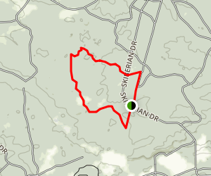 Hungerford Lake Recreation Area Cross Country Ski Trails Map