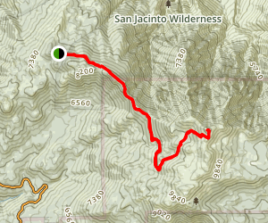San Jacinto Peak via Fuller Ridge Trail Map
