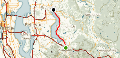 East Lake Sammamish Trail Map