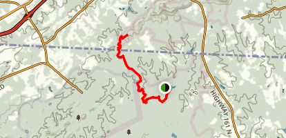 Kings Mountain Nature Trail  Map