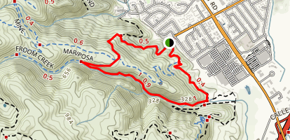 Froom Creek and Mariposa Trail Loop Map