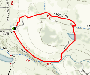 Boulder Valley Ranch Sage and Eagle Loop Trail Map