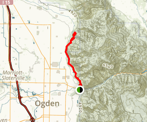 Bonneville Shoreline Trail (Lewis Peak Section) Map