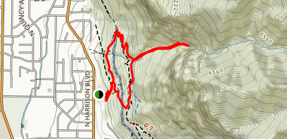 Jump Off Canyon Trail Map
