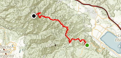Santiago Peak Map