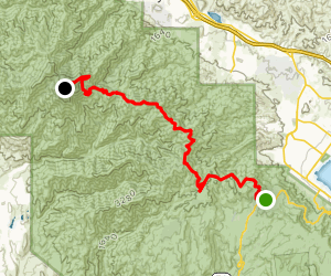 Santiago Peak [CLOSED] Map