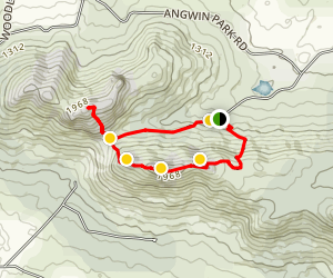 Nancy Peak and Devil's Slide Loop Map
