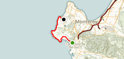 17-Mile Drive to Carmel Road Ride Map