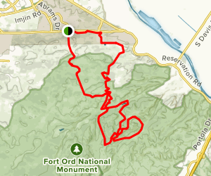 Mudhen Lake and Rim Trail Ramble Map