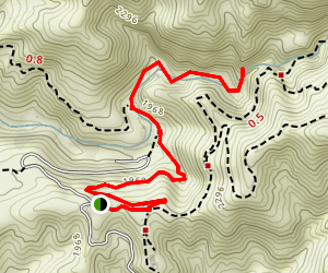 Millard Canyon Falls Trail Map