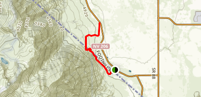 Fay Canyon-Luther Creek Trail Map