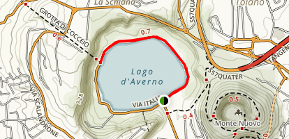 Lake Avernus (Lago di Averno) Map