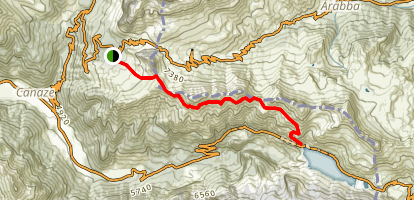 Canazei to Fedaia Lake Trail Map