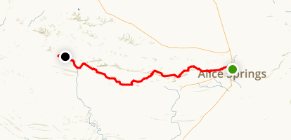 Larapinta Trail Map