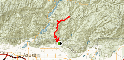 Glendora Mountain Road Mountain Biking Trail Map