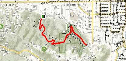 Vista to Valley View to Sky Trail Map