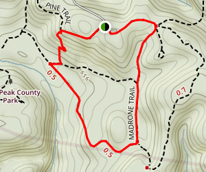 Sage and Madrone Loop Trail Map