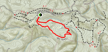 Iris and Rhus Trails Map