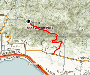 Toro Canyon Ridge Map