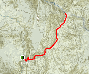 Kern River to Painter Camp Map