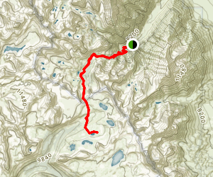 Moon Lake and L Lake via Pine Creek Map